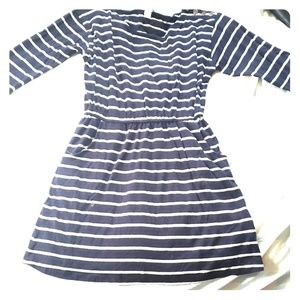 Forever 21 Comfy blue and white striped dress